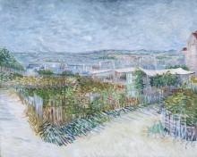 Огороды на Монмартре (Montmartre - behind the Moulin de la Galette, 1887 - Гог, Винсент ван