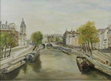 Париж, набережная - Адрион, Люсьен