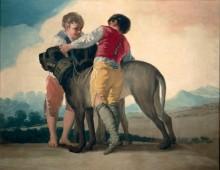 Мальчики с мастифами - Гойя, Франсиско Хосе де