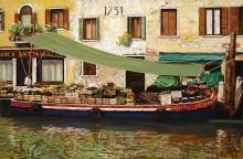 Плавающий рынок в Венеции - Борелли, Гвидо (20 век)
