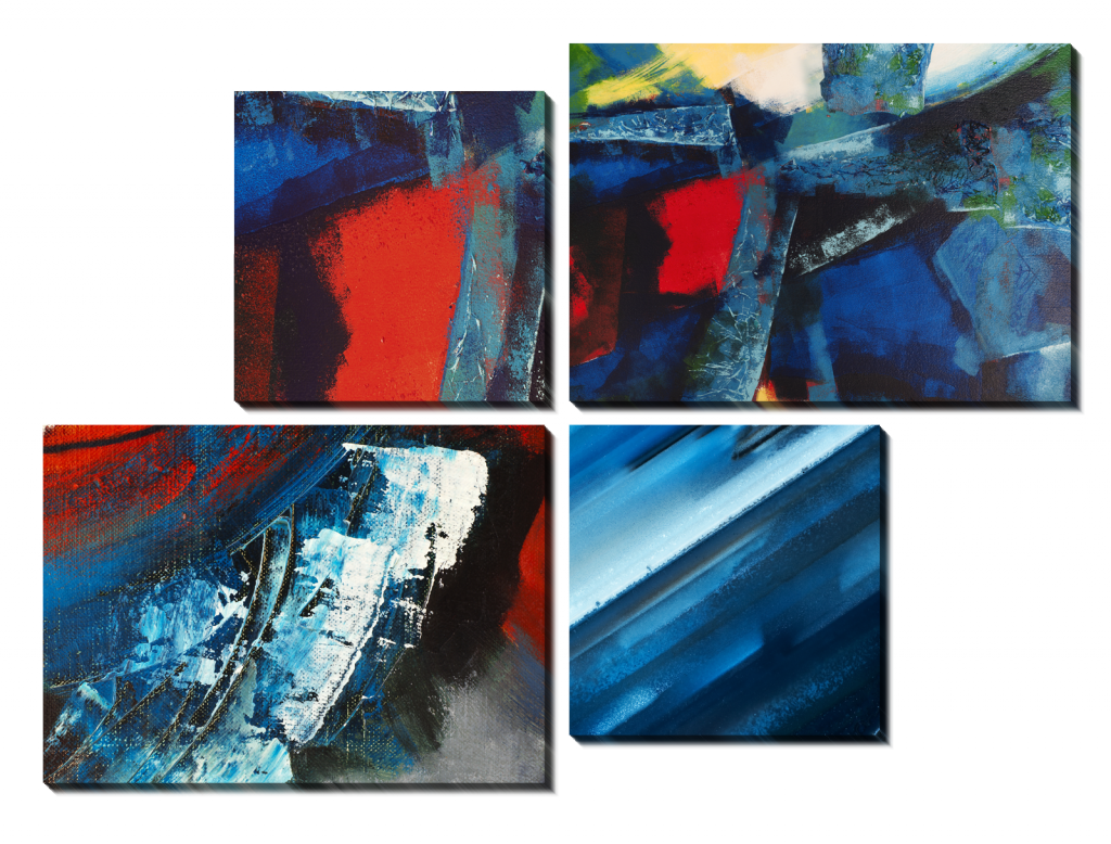 Синяя абстракция