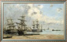 Портро, суда в порту, 1873 - Буден, Эжен