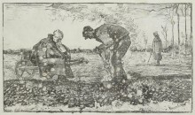 Сжигание сорняков (Burning Weeds), 1883 - Гог, Винсент ван
