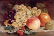 Натюрморт с фруктами на столе - Ланс, Джордж