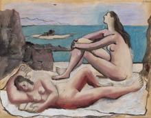 Три купальщицы - Пикассо, Пабло
