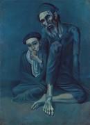 Старый еврей с мальчиком - Пикассо, Пабло