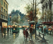 Сценка на парижской улице - Бланшар, Антуан