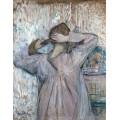 Женщина, заплетающая волосы - Тулуз-Лотрек, Анри де