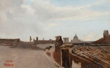 Вид на Рим из окна Коро - Коро, Жан-Батист Камиль