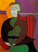 Женщина, сидящая  в красном кресле, 1931 - Пикассо, Пабло
