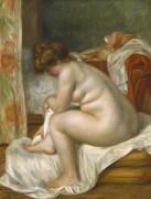 Женщина после купания - Ренуар, Пьер Огюст