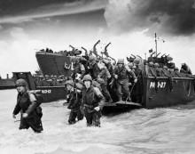 Высадка американских солдат в Нормандии