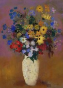 Odilon Redon  Vase of Flowers - Редон, Одилон