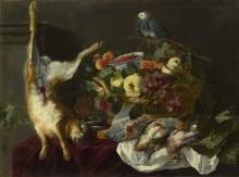 Натюрморт с фруктами и попугаем - Фейт, Ян