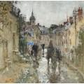 Городок под дождем  (Village under the Rain) - Монтезин, Пьер Эжен
