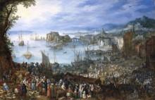 Большой рыбный рынок в порту - Брейгель, Ян (Старший)