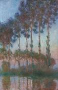 Тополя на берегу реки Эпт, заря - Моне, Клод