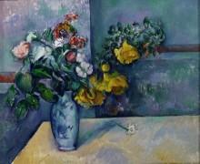 Цветы в вазе - Сезанн, Поль