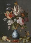 Цветы в синей и белой золоченой вазе - Аст, Бальтазар ван дер