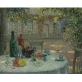 Стол с георгинами 1918 - Сиданэ, Анри Эжен Огюстен Ле