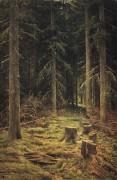 Хвойный лес, 1873 - Шишкин, Иван Иванович