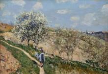 Весенний пейзаж в Буживале - Сислей, Альфред