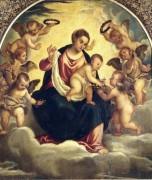 Мадонна с Младенцем и ангелы - Тициан Вечеллио