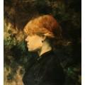 Молодая рыжеволосая женщина - Тулуз-Лотрек, Анри де