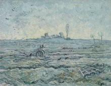 Заснеженное поле с плугом (по мотивам Милле) (The Plough and the Harrow (after Millet), 1890 - Гог, Винсент ван