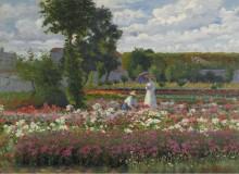В саду, 1911 - Зубрицкий, Лоранд