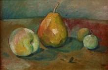 Натюрморт с грушами и зелеными яблоками - Сезанн, Поль