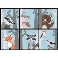 Портреты животных в деревьях