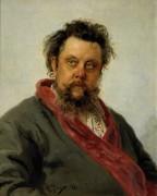 Портрет композитора М.П.Мусоргского - Репин, Илья Ефимович