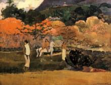 Женщины и белая лошадь, 1903 - Гоген, Поль