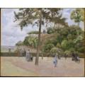 Сквер в Понтуазе, 1874 - Писсарро, Камиль