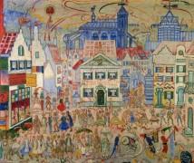 Въезд Христа в Брюссель на масленницу в 1889 году, 1912 - Энсор, Джеймс