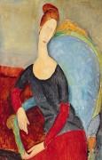 Жанна Эбютерн в голубом кресле - Модильяни, Амадео