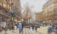 Сценка на парижской улице - Гальен-Лалу, Эжен