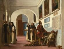 Христофор Колумб с сыном в Ла-Рабиде - Делакруа, Эжен