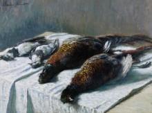 Натюрморт с фазанами и зуйками - Моне, Клод