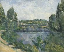 Мост и дамба в Понтуазе - Сезанн, Поль