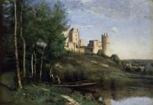 Пейзаж с замком Пьерфон - Коро, Жан-Батист Камиль