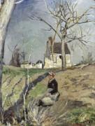 Жена фермера возле дома (Farmer`s Wife near the House), 1885 -  Виньон,  Виктор