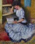 Этоль в библиотеке, Живерни, 1909 - Грейсен, Эдмунд Уильям
