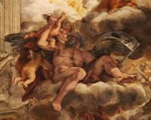 Аллегория Божественного Провидения в лице Сатурна -  Кортона, Пьетро да