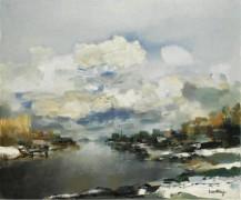 Зимний пейзаж - Саверис, Альберт