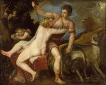 Венера и Адонис - Тициан Вечеллио