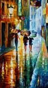 Итальянская улочка. Дождь - Афремов, Леонид (20 век)