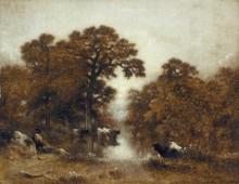 Коровы на водопое - Дюпре, Жюль