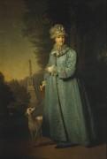 Екатерина II на прогулке в Царскосельском парке -  Боровиковский, Владимир Лукич
